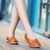 网红凉鞋女仙女风平底真皮豆豆鞋女洞洞鞋春夏季防滑奶奶鞋女大码 28.8元(需用券)
