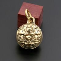 黄铜虎头铃铛手工复古铃铛汽车钥匙扣挂件吊坠