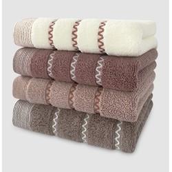 爱普万 纯棉毛巾 4条 33*74CM*100g
