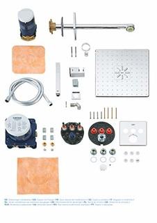 GROHE 高仪 34706000 花洒和淋浴系统  嵌入式系统配有Rainshower 310 Smartactive头顶花洒