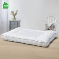 自然醒 0901528 草本颈椎枕头 (白色、小码、单人、70*45*8cm、单只装、纤维枕)