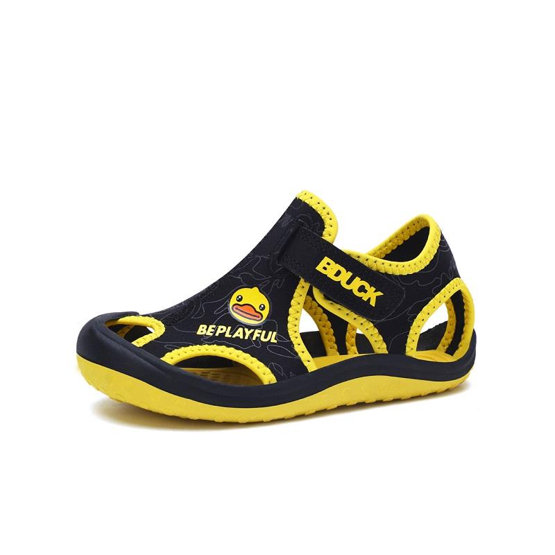 B.Duck B2985916 小黄鸭童鞋夏季儿童沙滩凉鞋 (黄色、30、通用)