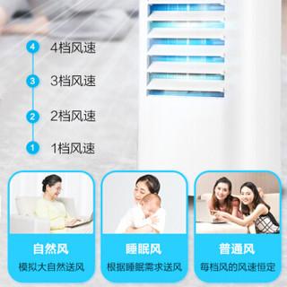 格力(GREE)家用客厅卧室节能机械控制冷小空调扇办公移动省电加湿单冷风扇水冷风机KS-06X60 6升水箱 白色