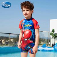 迪士尼儿童泳衣男童连体分体防晒泳装中大童宝宝卡通蜘蛛侠游泳衣