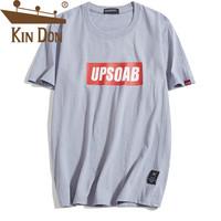 金盾(KIN DON)A102-DJ751 T恤 男2019夏季新款休闲宽松时尚休闲百搭短袖上衣