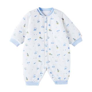 全棉时代 婴儿针织厚款长袖连体衣59/44(建议0-3个月) 星际呦呦 1件装
