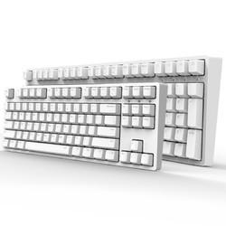 iKBC W200 2.4G无线 机械键盘 (Cherry红轴、PBT、87键、白色)