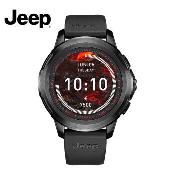 JEEP 吉普 HY-WS02 智能运动手表男户外多功能4G通话 1G+8G (黑色、硅胶)