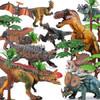 活石 恐龙玩具仿真模型 儿童男孩玩具霸王龙野生动物套装 豪华10只套装 79元