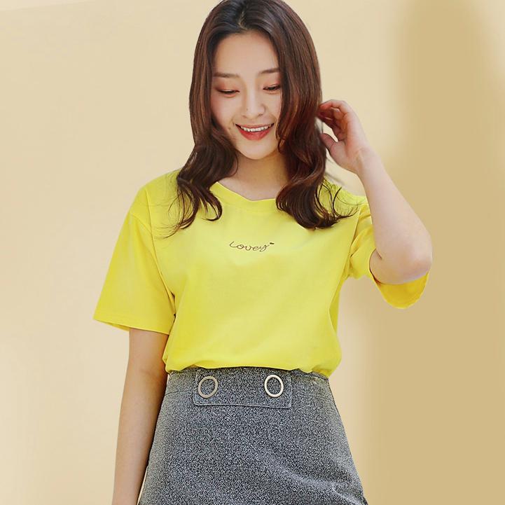 雅鹿 Y6021921901 女士短袖T恤