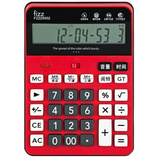 fizz 飞兹 FZ225002 12位语音型桌面计算器 红 *5件