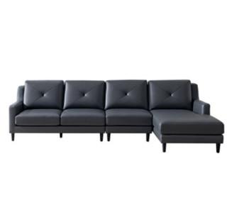 DUTO 顿图 MS009S 美式头层牛皮沙发组合 四人位