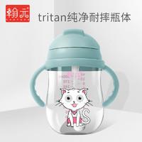 宝宝学饮杯吸管杯水杯带手柄防摔防漏防呛儿童小孩婴儿喝奶喝水杯