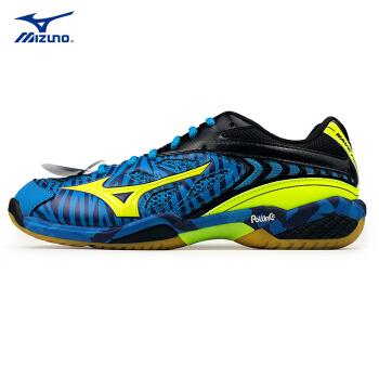 Mizuno 美津浓 SS2-6 羽毛球鞋 (蓝色、荧光黄 黑)