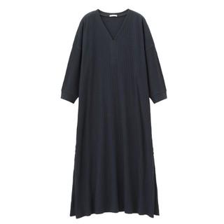 GU 极优 315465 女款V领复古长裙