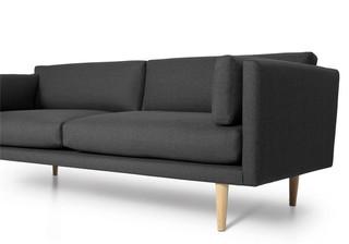 FormelA 客厅沙发 (深灰色、215cm*55cm*95cm、羊毛沙发、4角位)