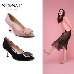 St&Sat/星期六2019春夏新款时尚仙女高跟细跟单鞋女鞋SS91111001