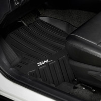 3W 全TPE丰田 凯美瑞普拉多霸道汉兰达亚洲龙汽车脚垫 (黑色、RAV4)