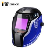 DEKO 高清自动变光电焊面罩头戴式太阳能焊工氩弧焊防护电焊帽烧焊眼镜透气焊接面罩4探头 DX980E