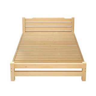 Rockefeller 洛克菲勒 定制款实木床 (米色、150cm*200cm、松木、现代简约)