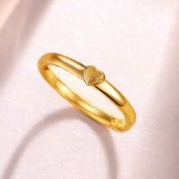 金至尊 足金心形戒指 约2.79g