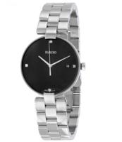 Rado 雷达表 Coupole 系列 R22854703 银黑色镶钻女士优雅腕表