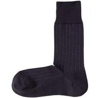 MUJI 无印良品 F6SA301 男士条纹商务袜