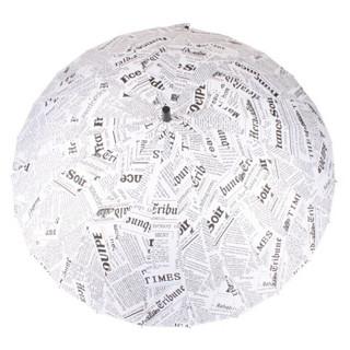 美度 创意报纸伞雨伞 24骨防风超大长柄伞 M5115