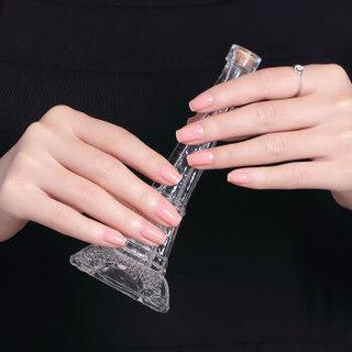Sweetcolor 微光疗美甲指甲油338 果冻裸粉12ml(法国原料无毒环保 快干持久 裸色 透明粉色)新旧包装随机