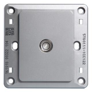 西门子(SIEMENS)开关插座 远景系列 电视插座面板 (彩银色)5TG01111CC122
