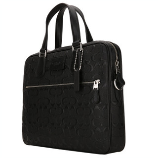 COACH 蔻驰 奢侈品 男士黑色皮质手提包 71752 SV/BK
