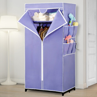 溢彩年华简易衣柜DKB2-058浅紫色无纺布75*45*160cm