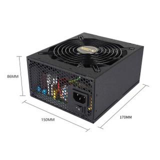 振华(SUPER FLOWER)额定550W 冰山金蝶GX550 电源(80PLUS金牌/半模组/支持SLI)