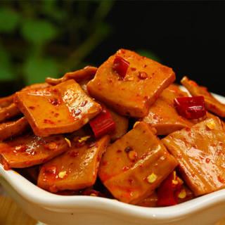 好巴食 豆腐干 休闲零食 豆干素食 麻辣味95g*5袋
