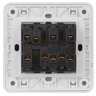 西门子(SIEMENS)开关插座 远景系列 三开双控 带荧光开关面板 (雅白色)5TA01191CC1