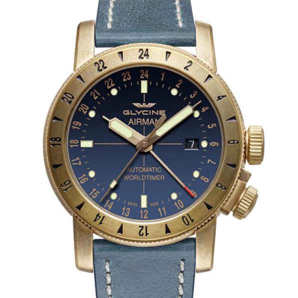 GLYCINE 冠星 Airman GL0167 男士机械腕表