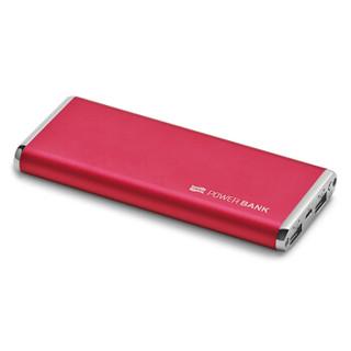 飞毛腿 M100 超薄聚合物 移动电源/充电宝 10000毫安 酒红色 双USB输出 适用于苹果/三星/华为/小米