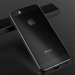 毕亚兹 苹果5S/SE/5手机壳 iPhone5S/SE/5保护套 全包防摔透明软壳 清爽系列 JK01-透明白