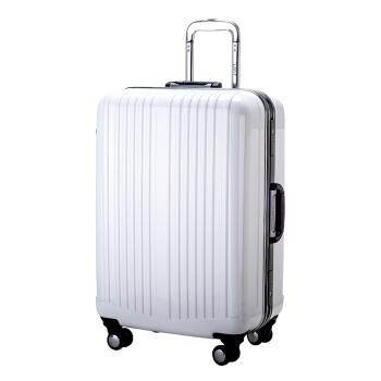 LATIT PC铝框旅行行李箱 拉杆箱 旅行箱  20英寸 万向轮 白色
