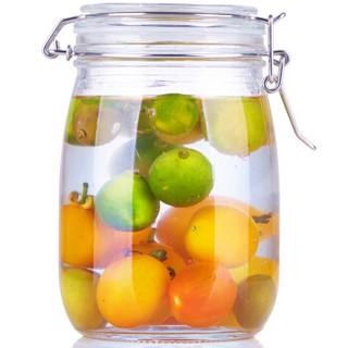 喜碧(Scybe)潘多拉圆形加厚玻璃密封罐储藏瓶 1100ml