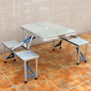 创悦 铝合金折叠桌椅套装 便携桌椅 户外野餐便携式折叠连体CY-5923