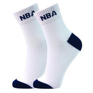 NBA袜子男士袜子篮球运动舒适休闲男袜男士棉袜中筒袜 弹性袜口吸湿透气绣花袜 6双装