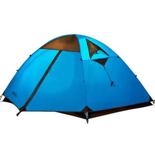 牧高笛 野外露营防风防暴雨三季铝杆双人双层帐篷 冷山2 驴友强推 MZ093005 蓝色