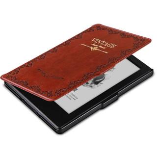纳图森(Natusun)适配Kindle 558版保护套/壳 复古魔法书系列 全新Kindle电子书休眠皮套 深棕
