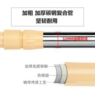 溢彩年华 晾衣架 不锈钢加粗管三杆可移动伸缩晒衣架 出口品质家用晾晒架DKC1612(A)