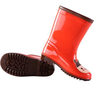 hugmii儿童雨鞋男童女童宝宝时尚卡通贴片小孩防滑水鞋 ZTPDWT222 蜜蜂内长160mm