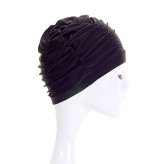 三奇 (SANQI) 京东自营 新款游泳帽布女士款超大号长发护耳舒适时尚成人装备温泉用品 88800黑色
