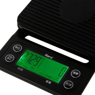 hero智能手冲咖啡电子秤吧台厨房食品电子秤可计时称重
