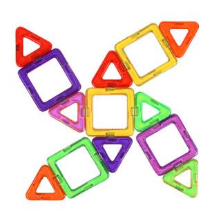 勾勾手 儿童早教益智玩具 100件套 百变提拉磁力片 立体拼插磁性建构智慧片积木玩具
