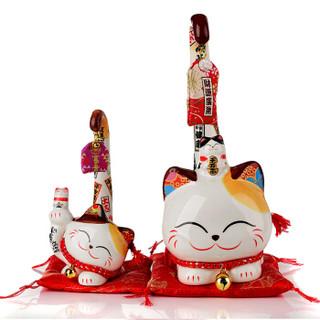 金石工坊招财猫陶瓷店铺开业创意礼品家居摆件送朋友长尾猫SC6033